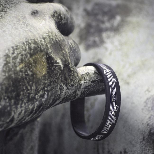 Dudelsack Armband Schwarz