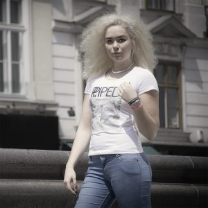 Dudelsack T Shirt Damen weiß