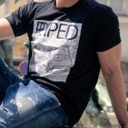 Dudelsack T Shirt Herren schwarz
