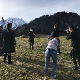 Fotoshooting Kilt Dudelsack Aigen im Ennstal