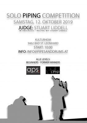 Dudelsack Wettbewerb (Competition) Oktober 2019 in Österreich, Kärnten mit Stuart Liddell als Judge